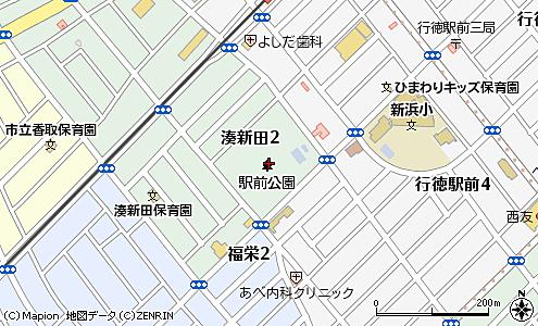 市川市行徳 行徳駅 行徳駅前公園 地図