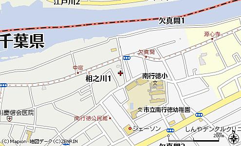 市川市南行徳図書館 相之川日枝神社 地図