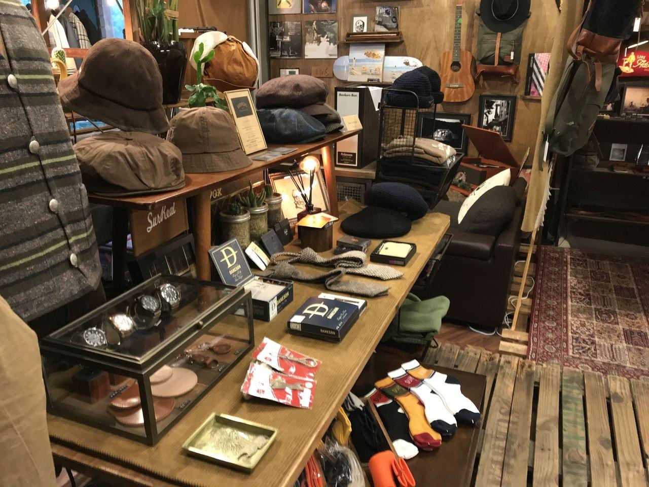 行徳のMindの店内小物スペース