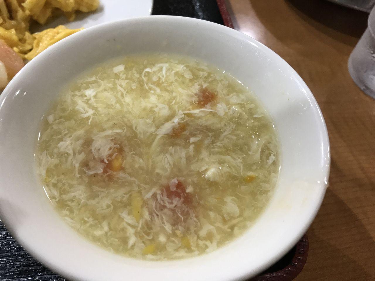 行徳の橘屋のランチスープ