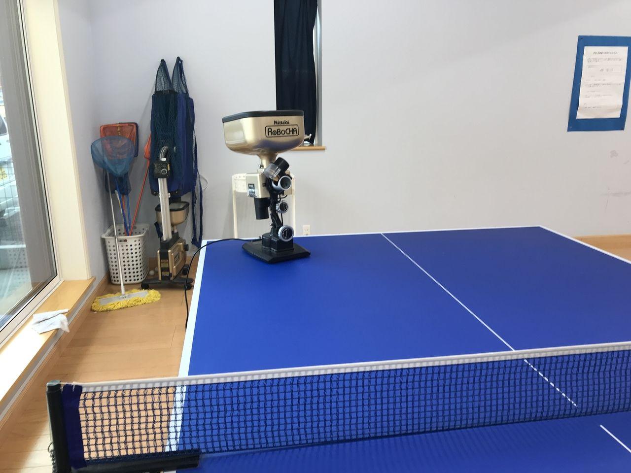 行徳のFSC卓球クラブの卓球マシン