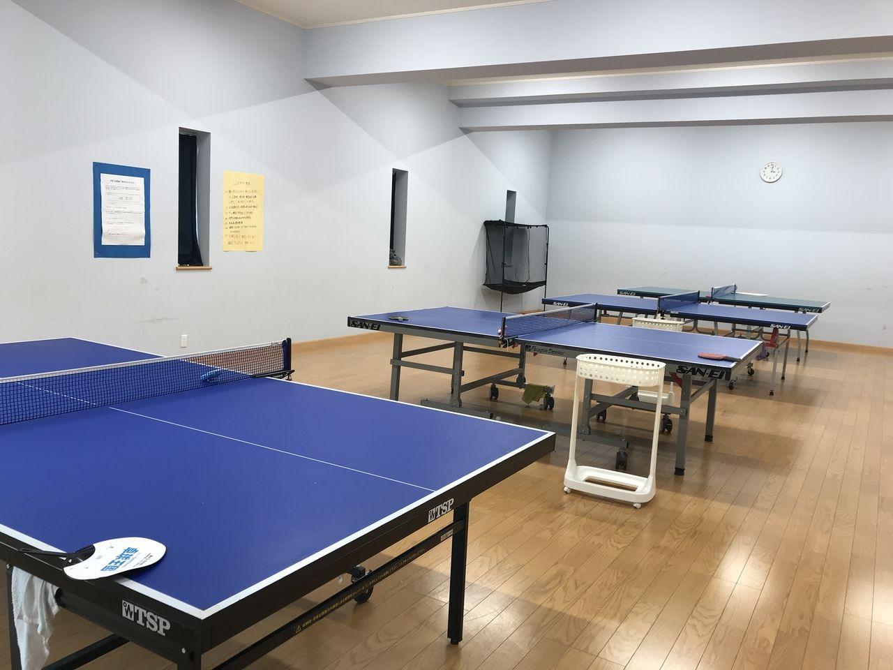 行徳のFSC卓球クラブの室内練習所