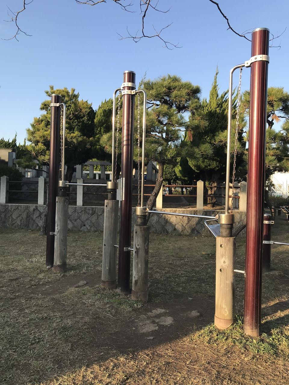 南行徳公園のプレスバーベル