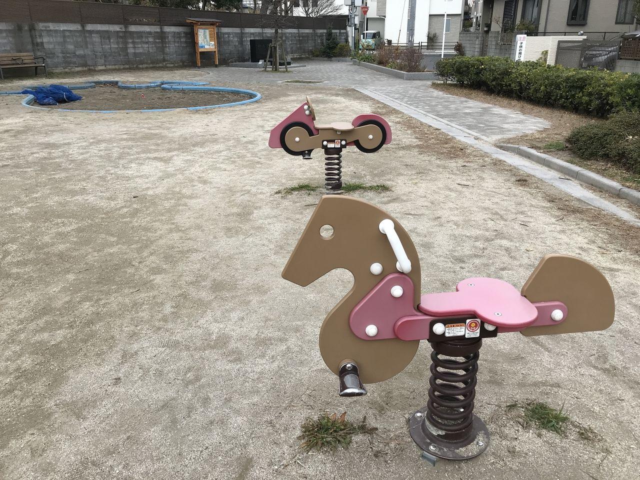 行徳の寺町公園の乗り物