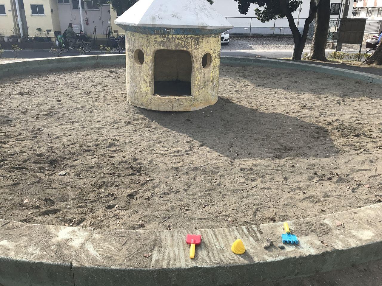 南行徳の満世公園の砂場
