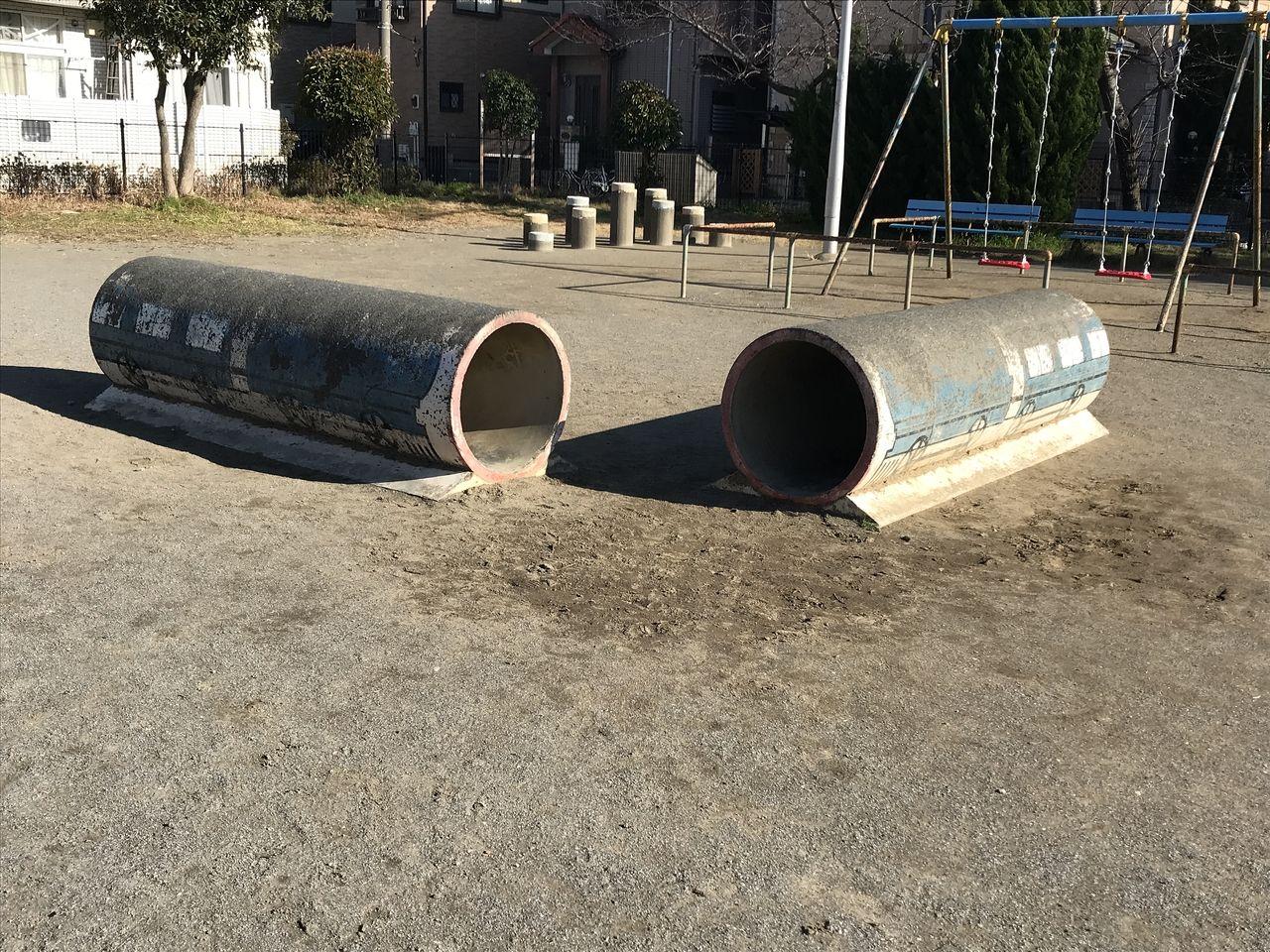 行徳の西浜公園の土管