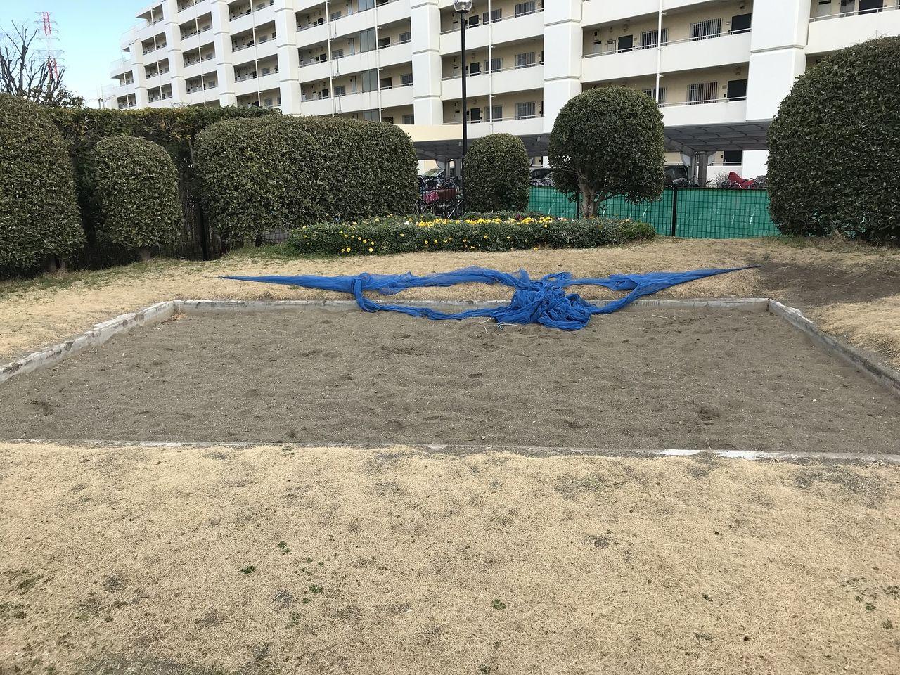 妙典のもっこく公園の砂場