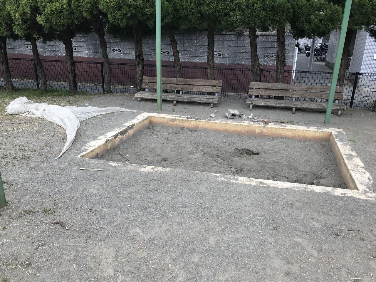 行徳の南場公園の砂場