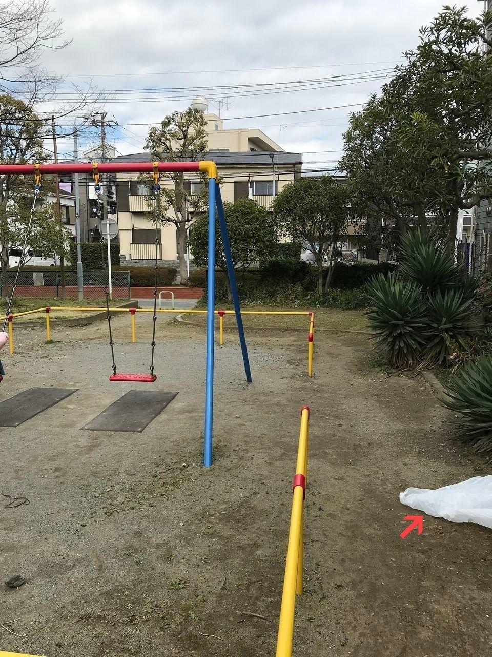南行徳の新中宿第3児童公園のブランコ