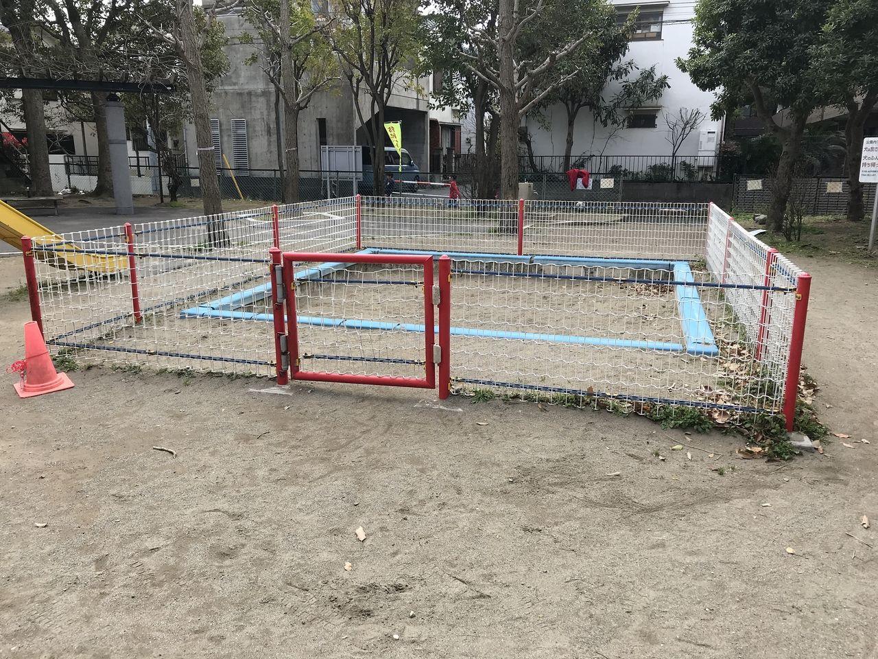 南行徳の新中宿第3児童公園の砂場