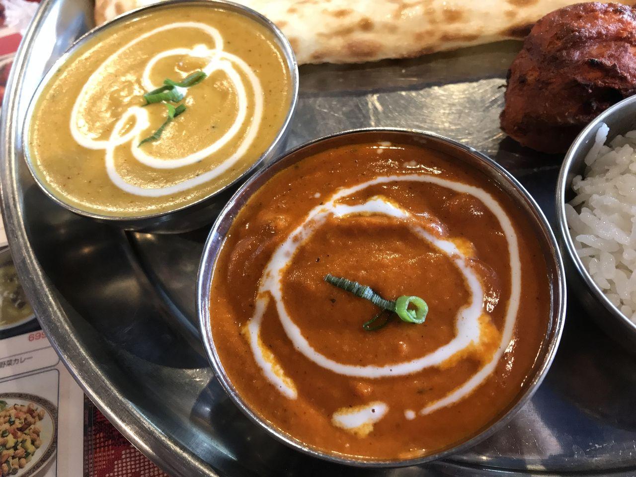 行徳のインディアンキッチンの2種カレー