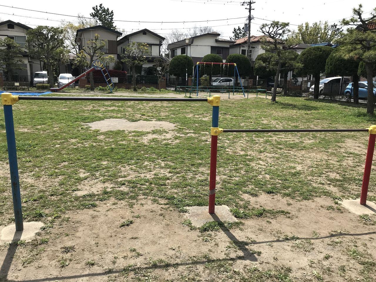 南行徳の千鳥公園の鉄棒