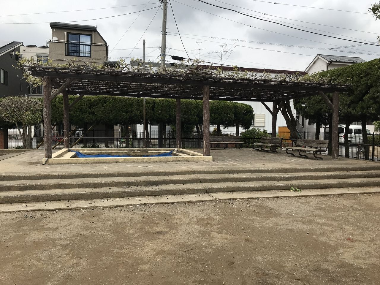 南行徳の新浜公園の藤棚