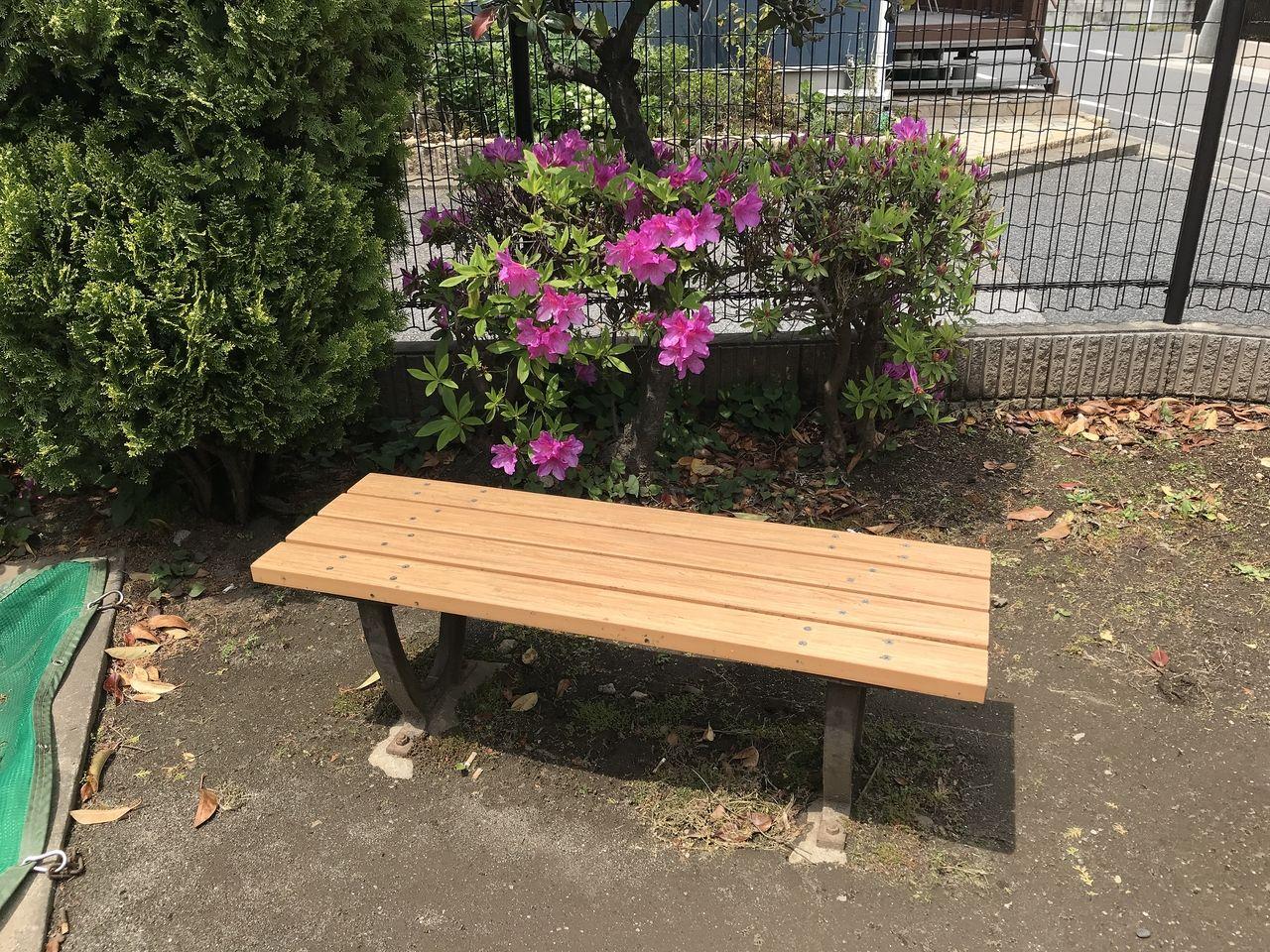 行徳のなでしこ公園のベンチ