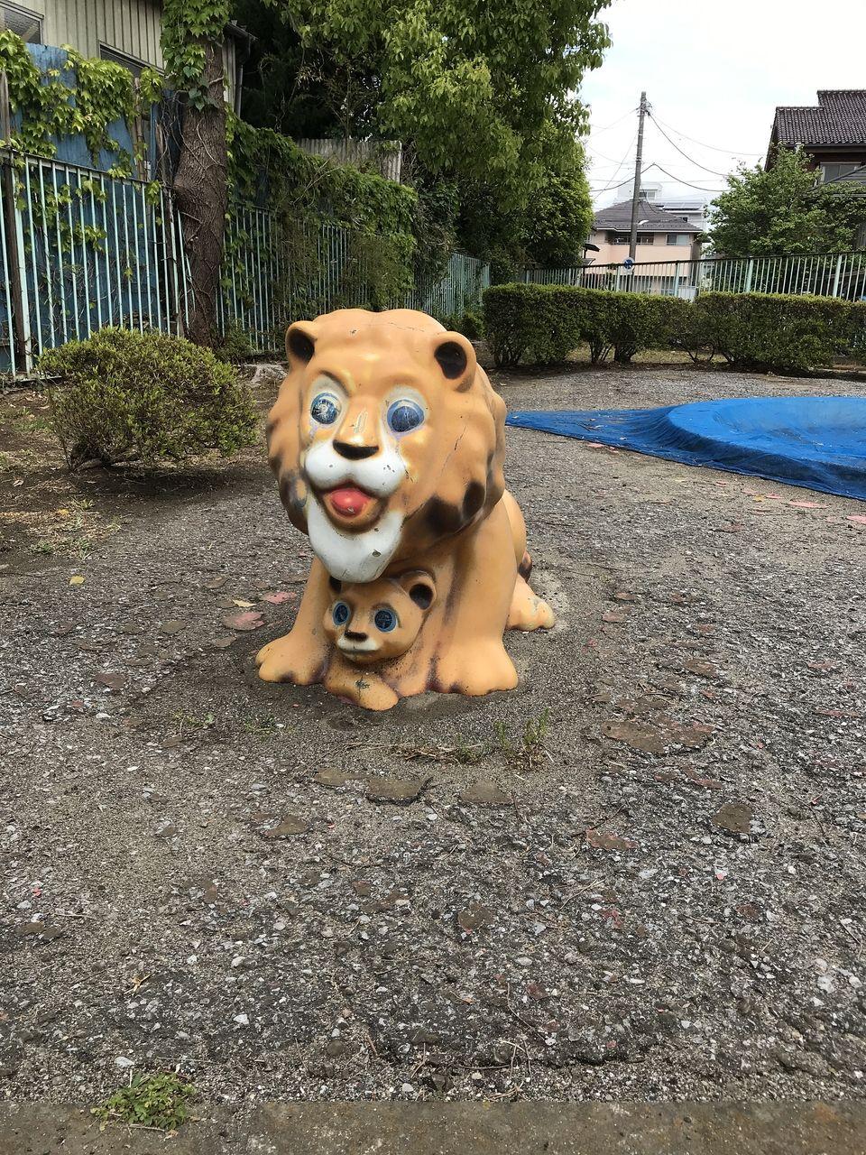 南行徳のあすなろ公園の正面から見たライオン