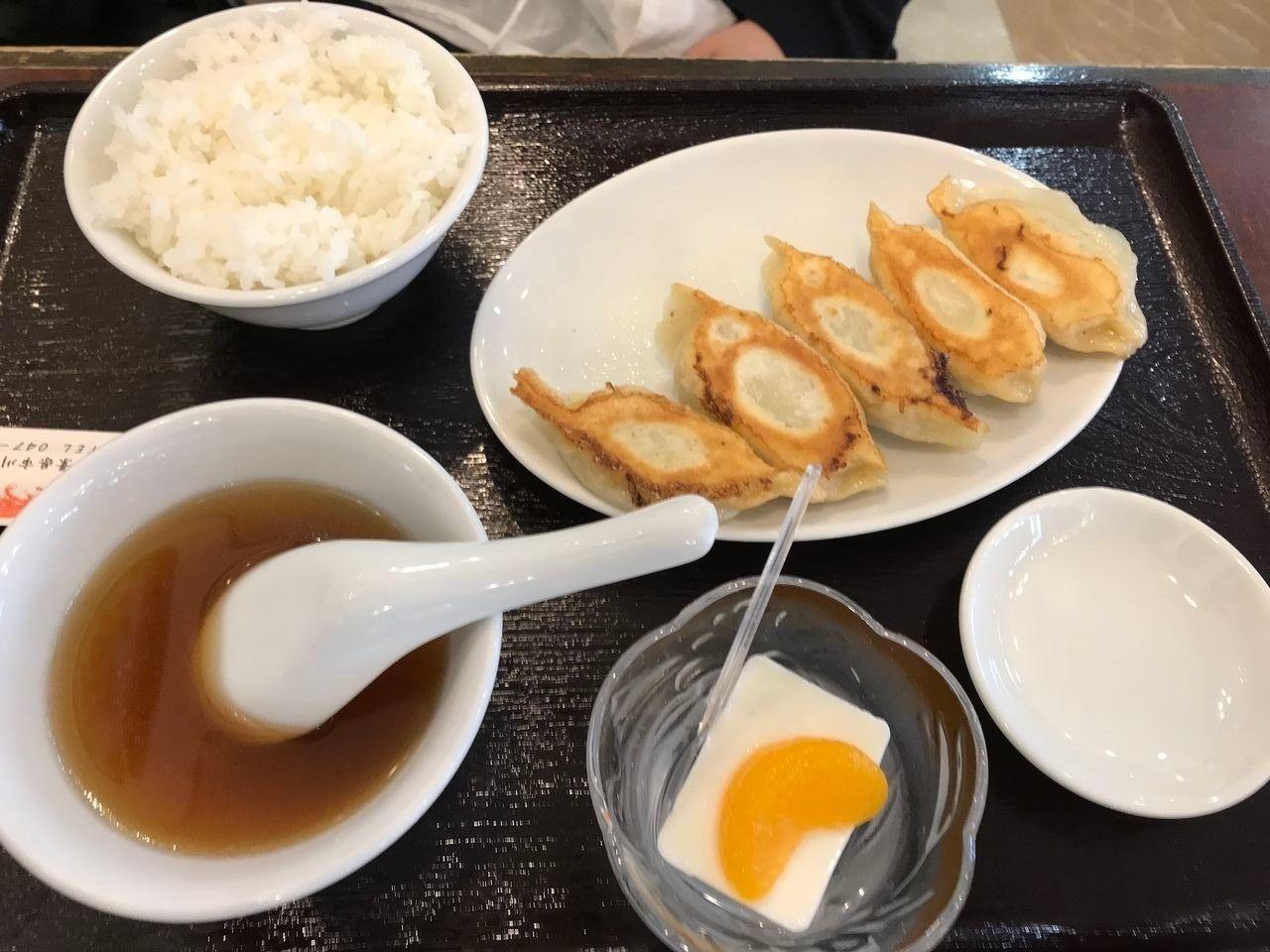 行徳の独一処餃子の餃子定食