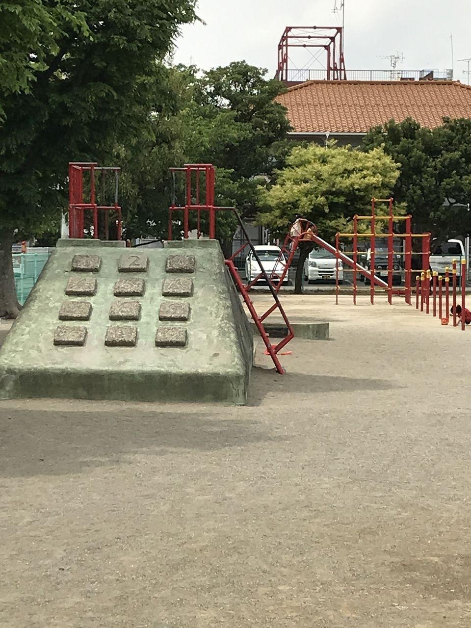行徳の南沖公園の電話のすべり台