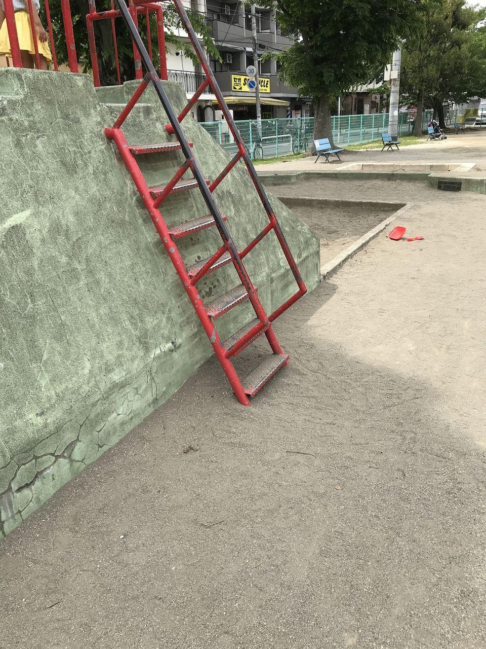 行徳の南沖公園の電話の階段