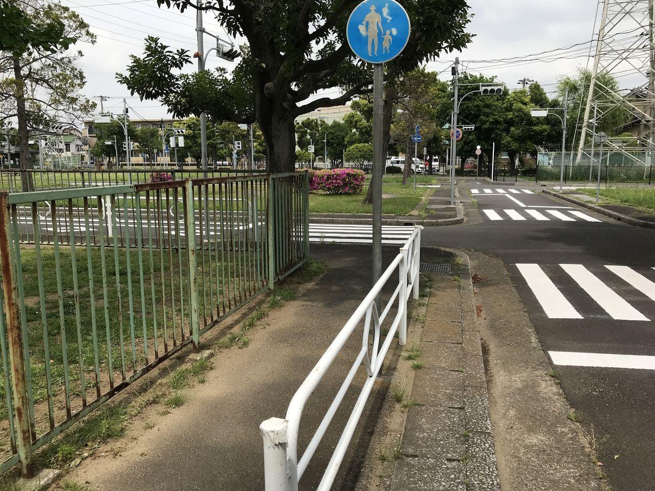 行徳の南沖公園の交通公園内