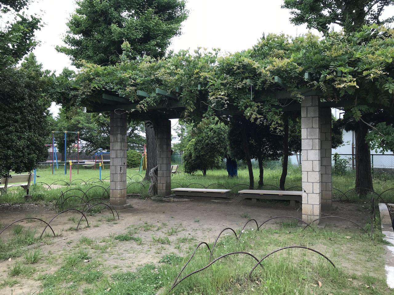 行徳の行徳児童公園のベンチ