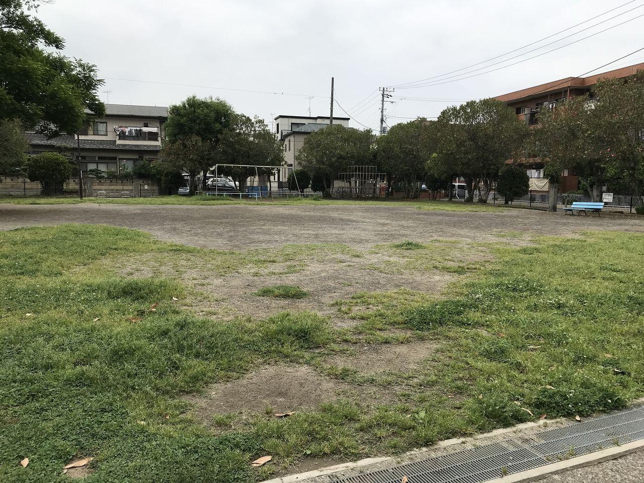 南行徳の御手浜公園の広場