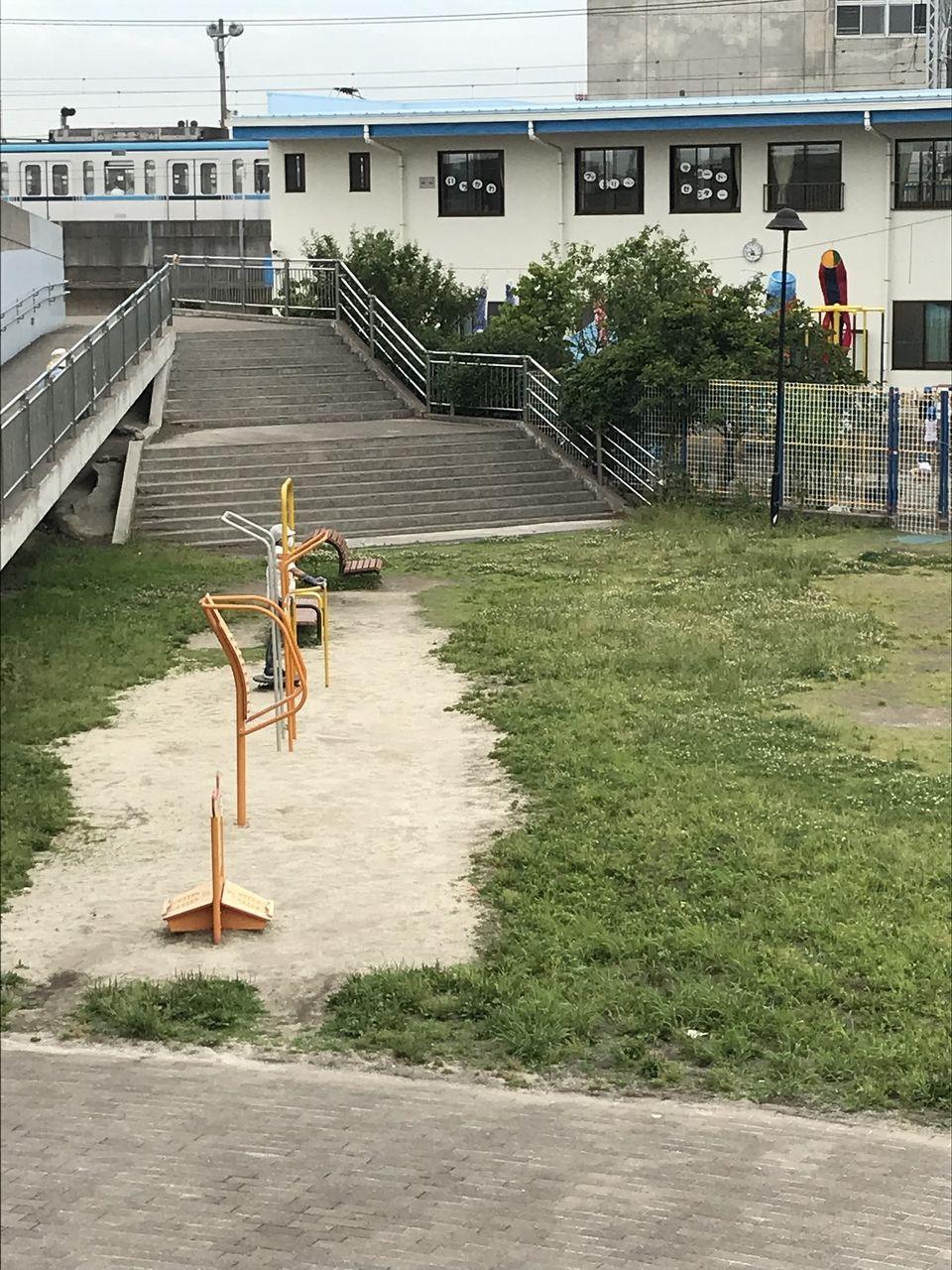 妙典にある妙典公園のアスレチックコーナー