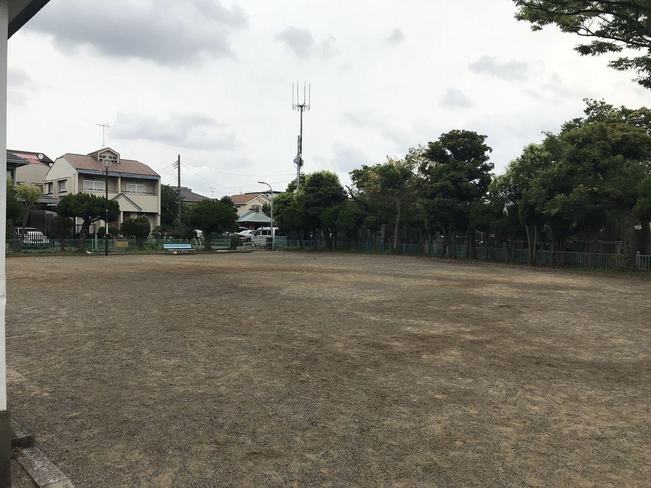 妙典の元新田公園の左側グラウンド