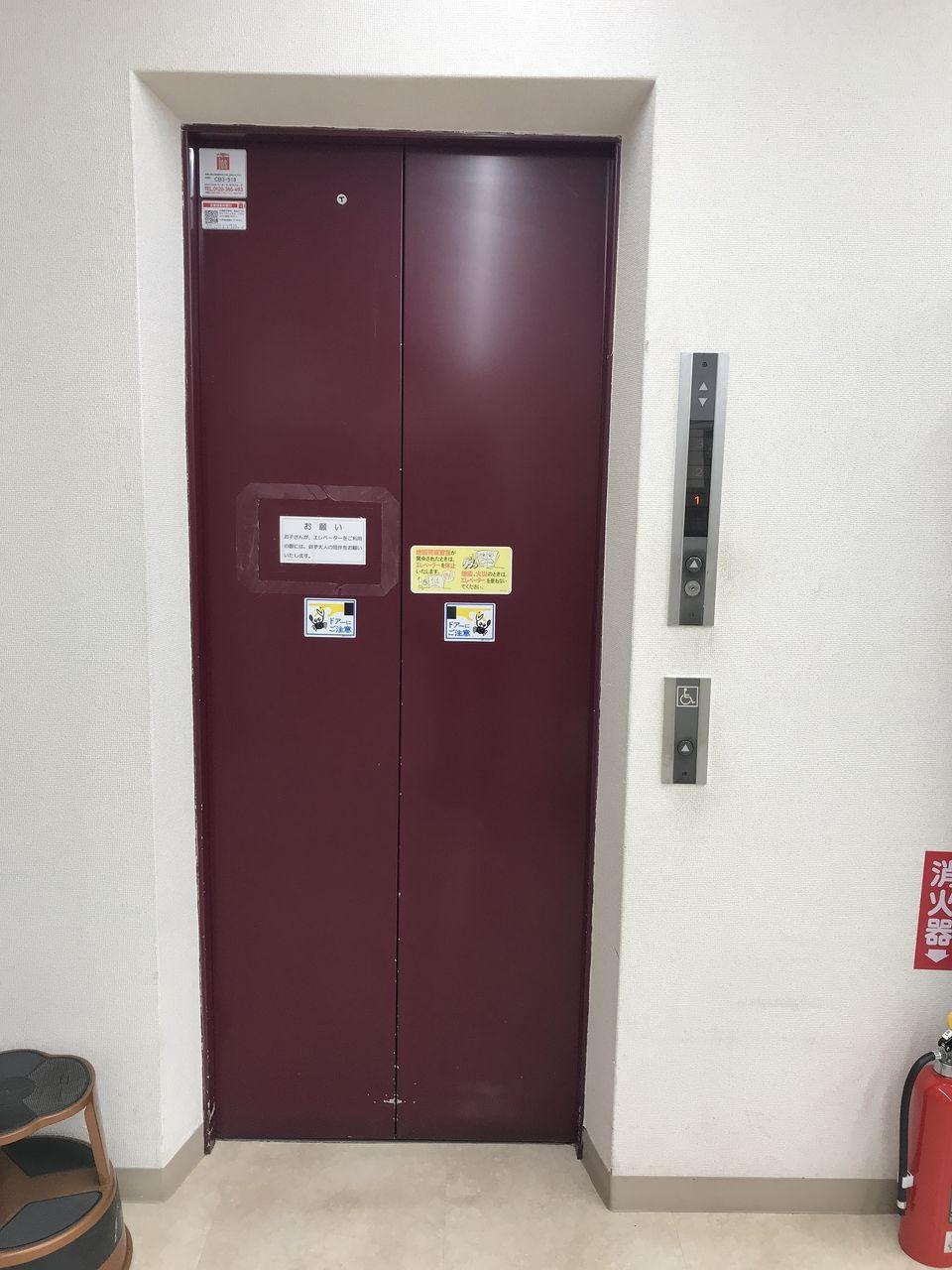 南行徳図書館のエレベーター