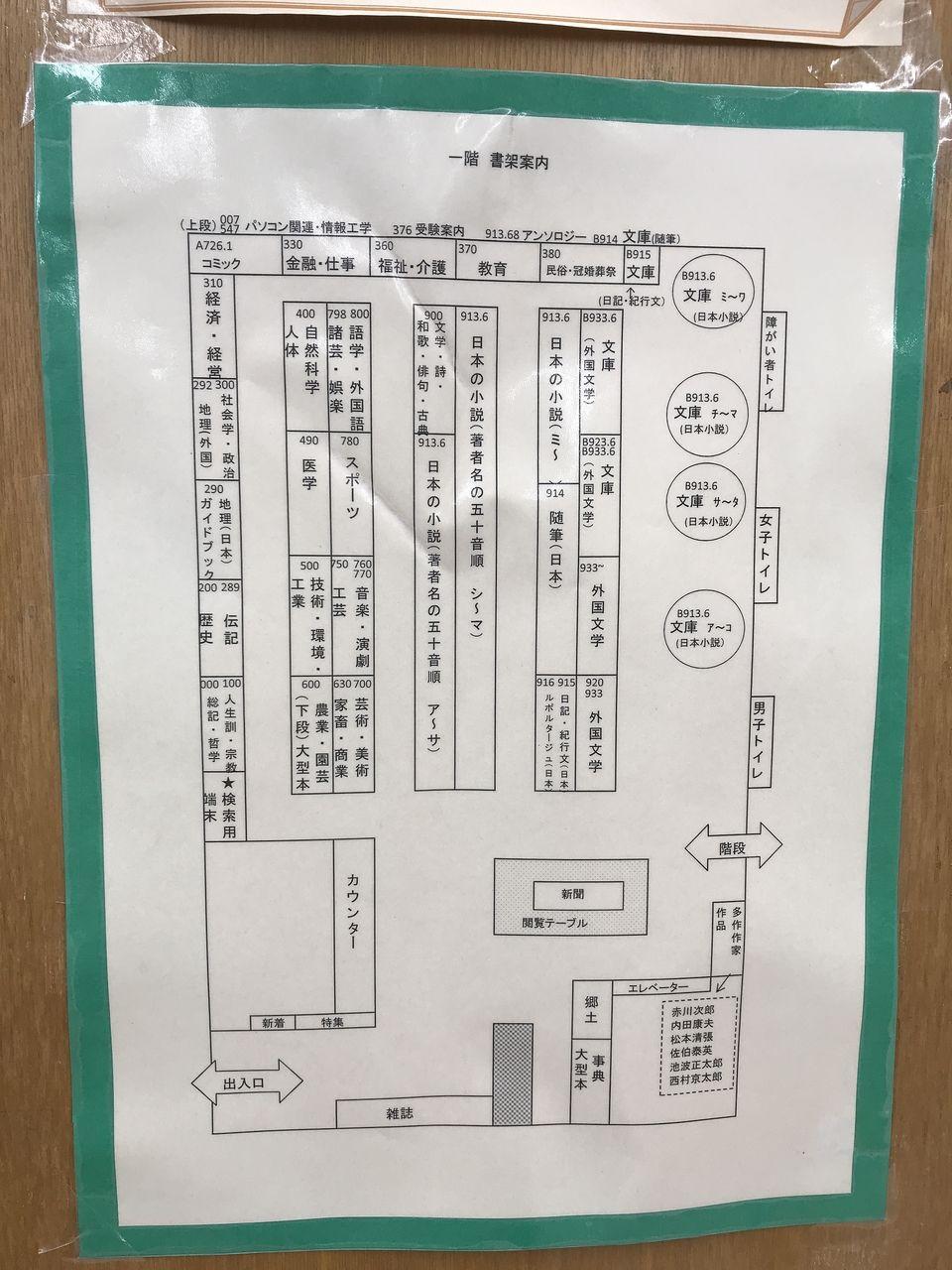 南行徳図書館の館内図
