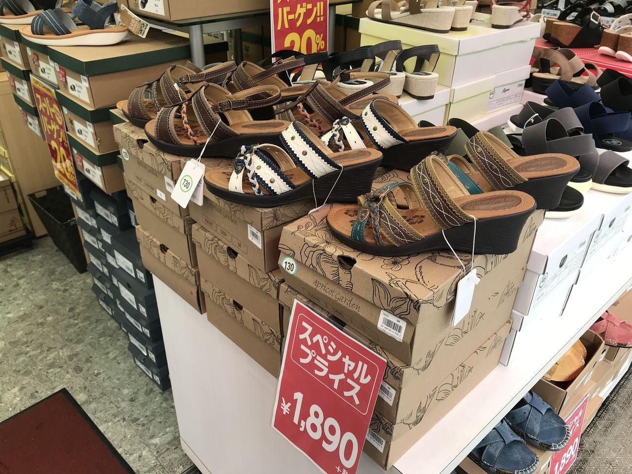行徳の東京靴流通センターのセール品サンダル