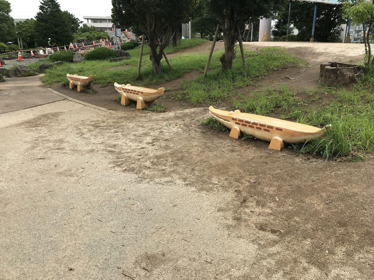 南行徳公園のベンチ