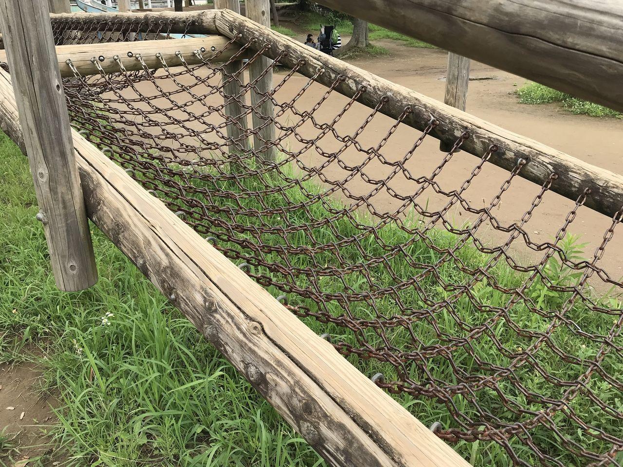 南行徳公園のネットが鎖