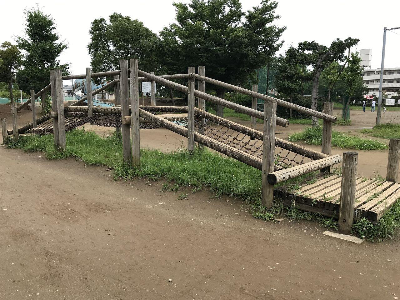 南行徳公園のネット登り