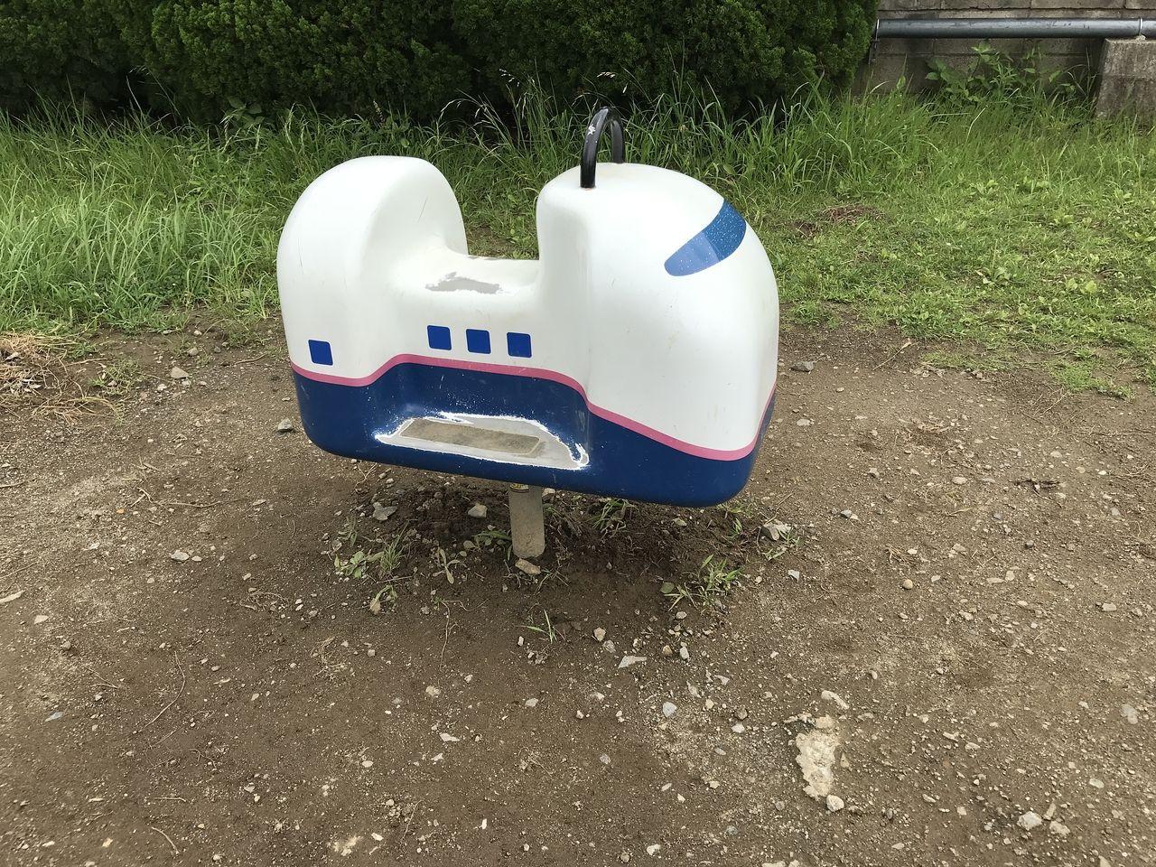 南行徳公園のロッキング遊具新幹線