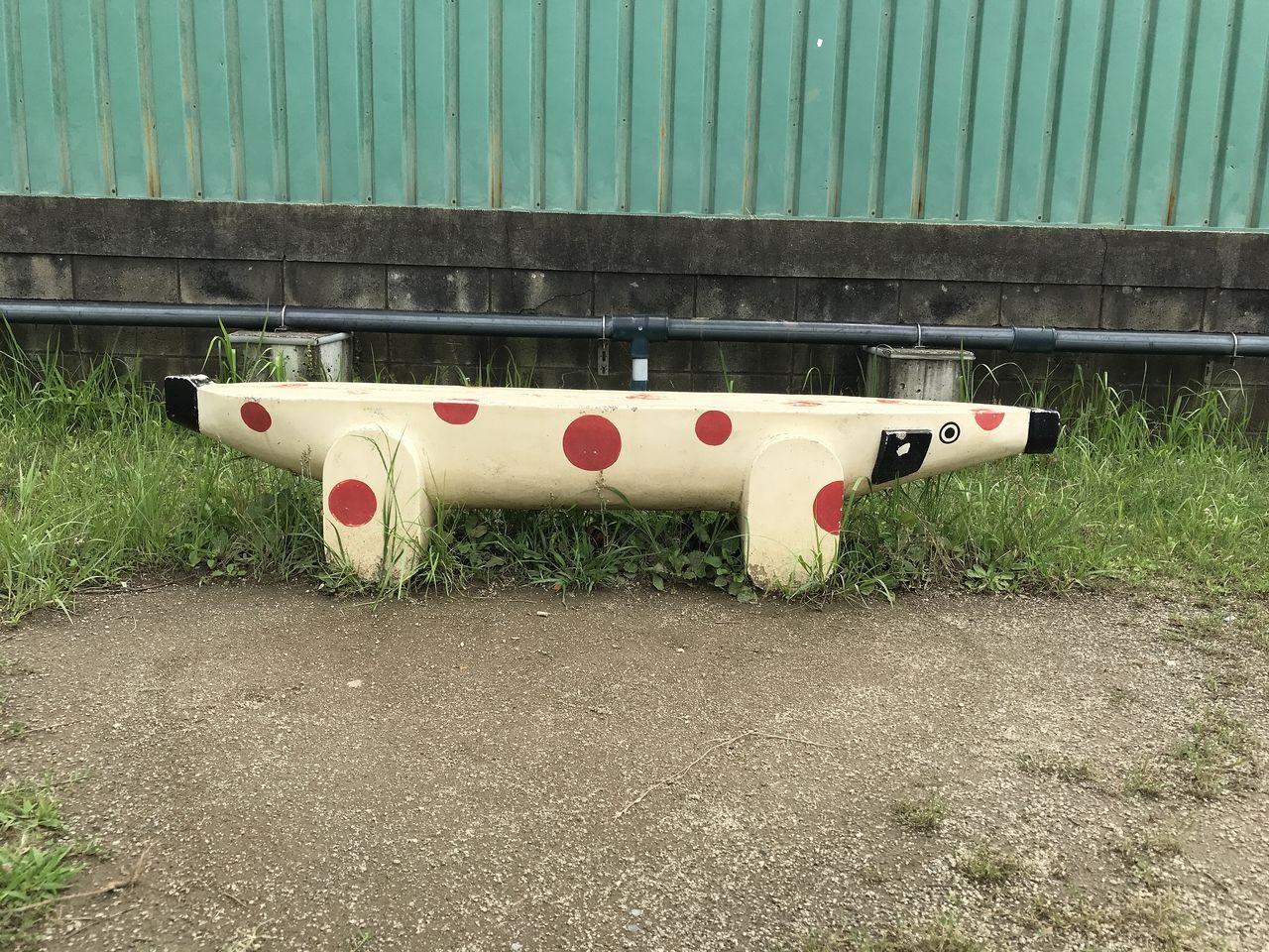 南行徳公園のベンチのアップ