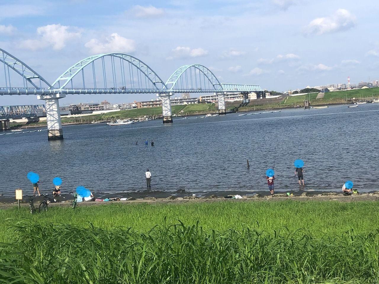 釣りやお散歩、BBQまで楽しめます!江戸川妙典河川敷☆