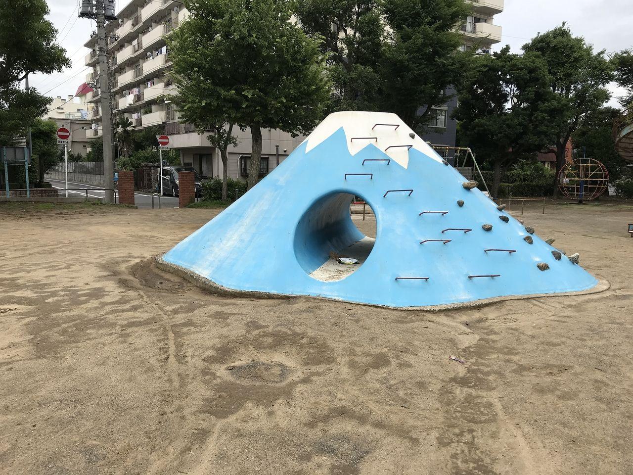 行徳の富士山すべり台と可愛い動物が目印です!行徳駅前4丁目の「東根公園」☆